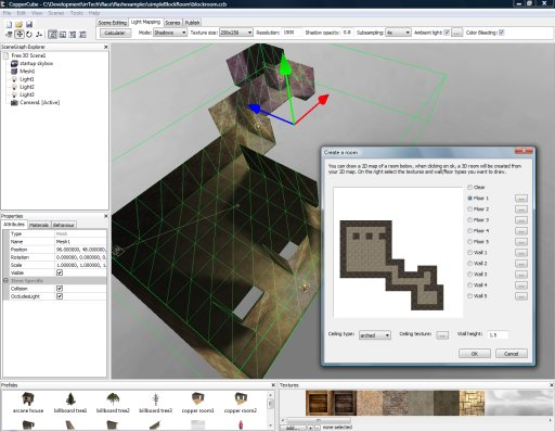 added 3d room prototyping to coppercube